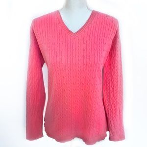 Charter Club Cable Cardigan V Neck Plus 2X